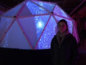 Kath in front of the dome of light.