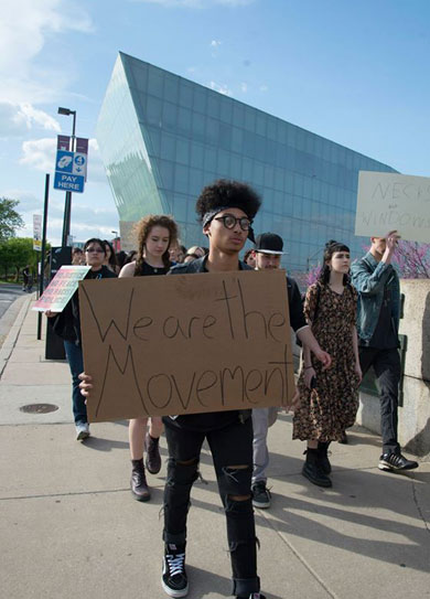 Shiloh Berstein Student Protest Photo
